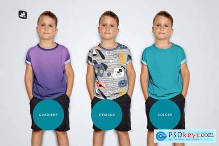 Kids Half Sleeve Tshirt Mockup 5242214