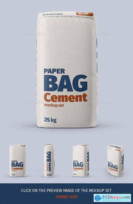 Paper Cement Bag Mockup Set - 29431930