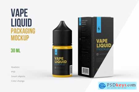 Vape Liquid Packaging Mockup 30ml 5731607