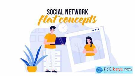 Social network - Flat Concept 29800506