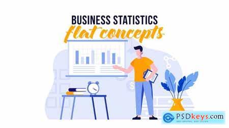Business statistics - Flat concept 29800492