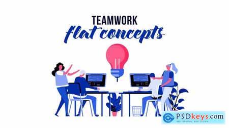Teamwork - Flat Concept 29793786