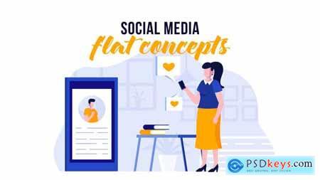 Social media - Flat Concept 29800503
