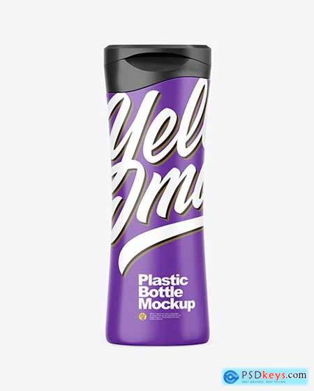 Matte Plastic Cosmetic Bottle Mockup 72543