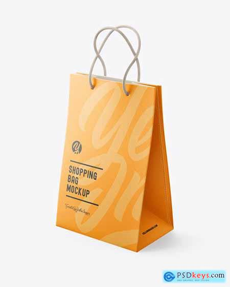 Luxury Leather Shopping Bag With Handles mockup 72210