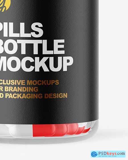 Clear Pill Bottle Mockup 72595