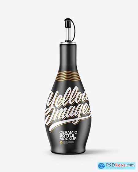 Ceramic Oil Bottle Mockup 72568