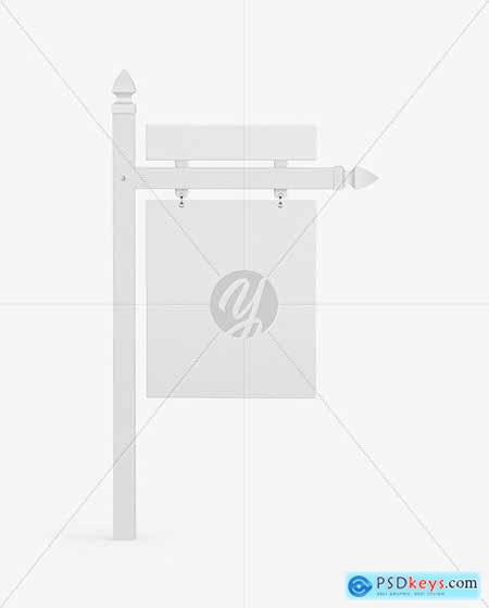 Real Estate Sign Mockup - Front View 72475