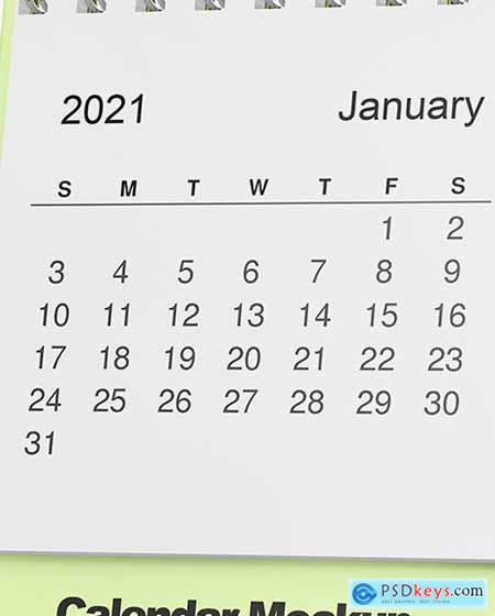 Table Desk Calendar Mockup 72358