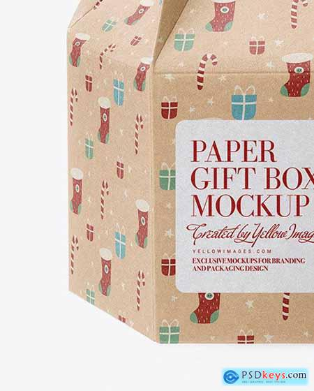 Kraft Paper Gift Box Mockup 72452
