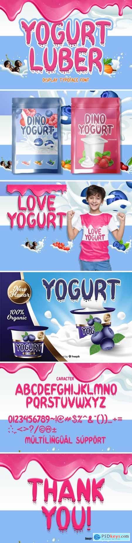 Yogurt Luber Font