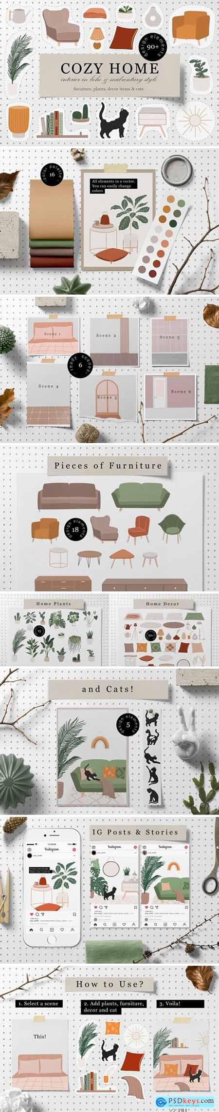 CreativeMarket - Cozy Home Decor Collection 5550251