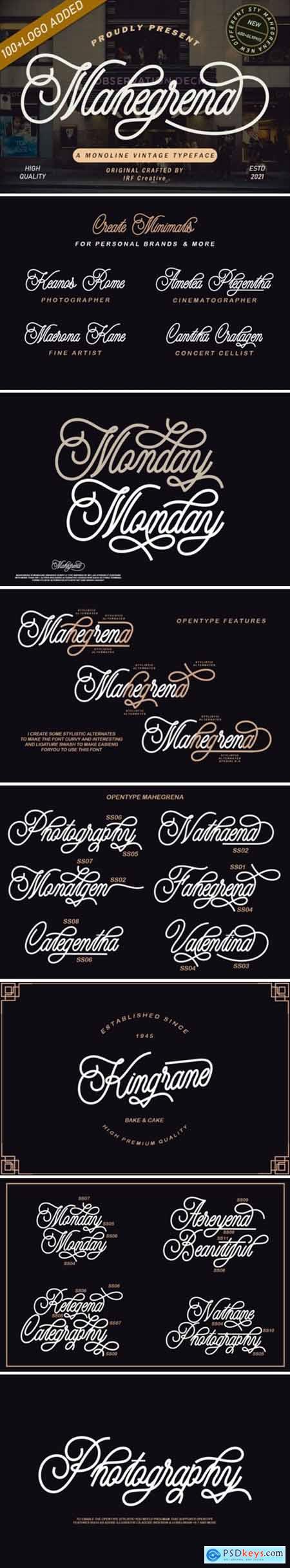 Mahegrena Font