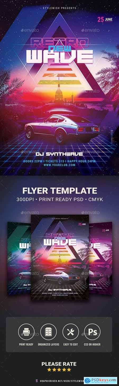New Retrowave Flyer 29623060