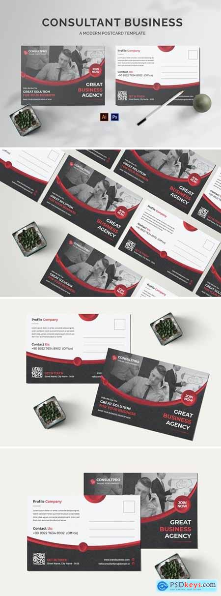 Consultant Business Postcard