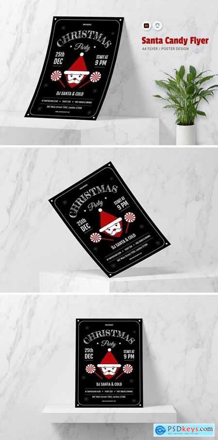 Santa Candy Flyer