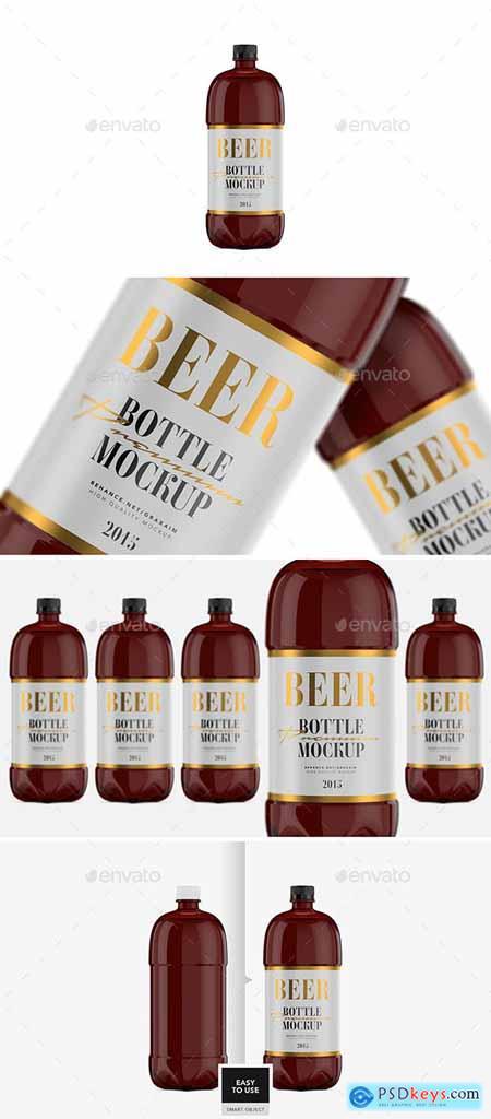 Beer Bottle - Amber PET - Mockup 29782891