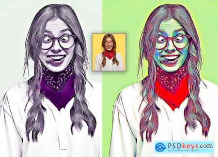 3D Oil Effect Photoshop Action 570