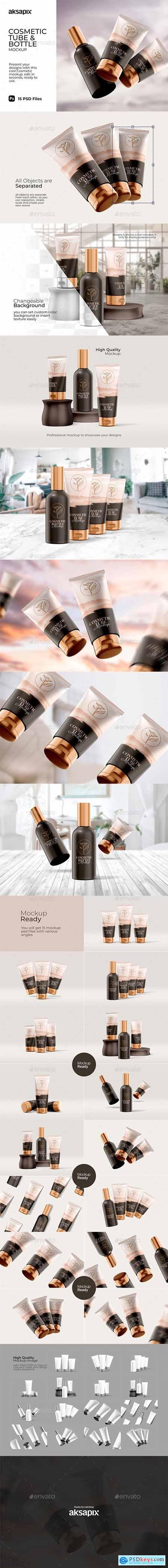 Cosmetic Tube & Bottle - Mockup 29810114