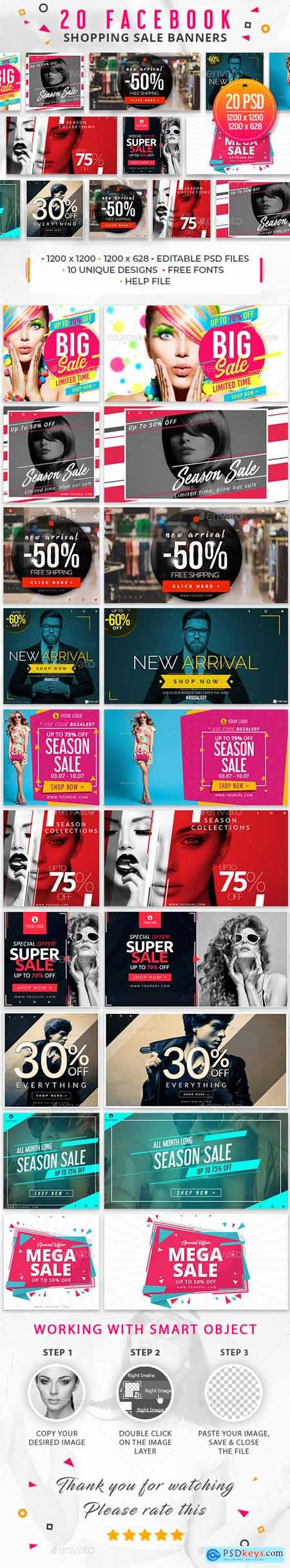 20 Facebook Sale Banners 29396940