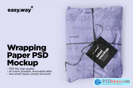 Wrapping Paper Psd Mockup 5635152