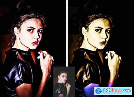 Luxury Oil Painting Photoshop Action 5704092
