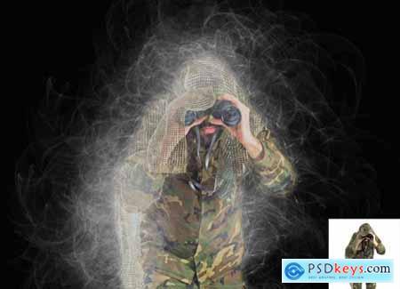 Smoke Effect Photoshop Action 5583653