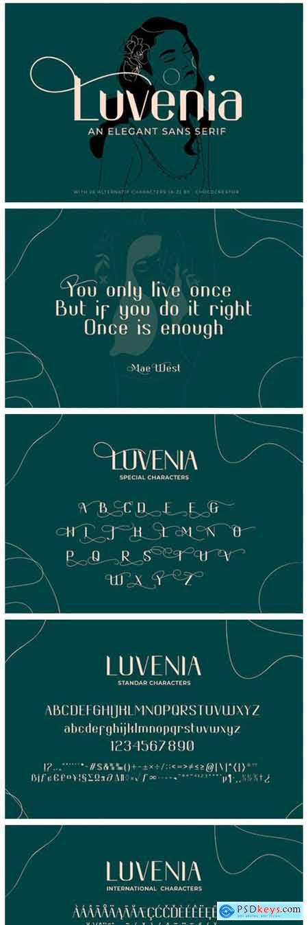 Luvenia Font