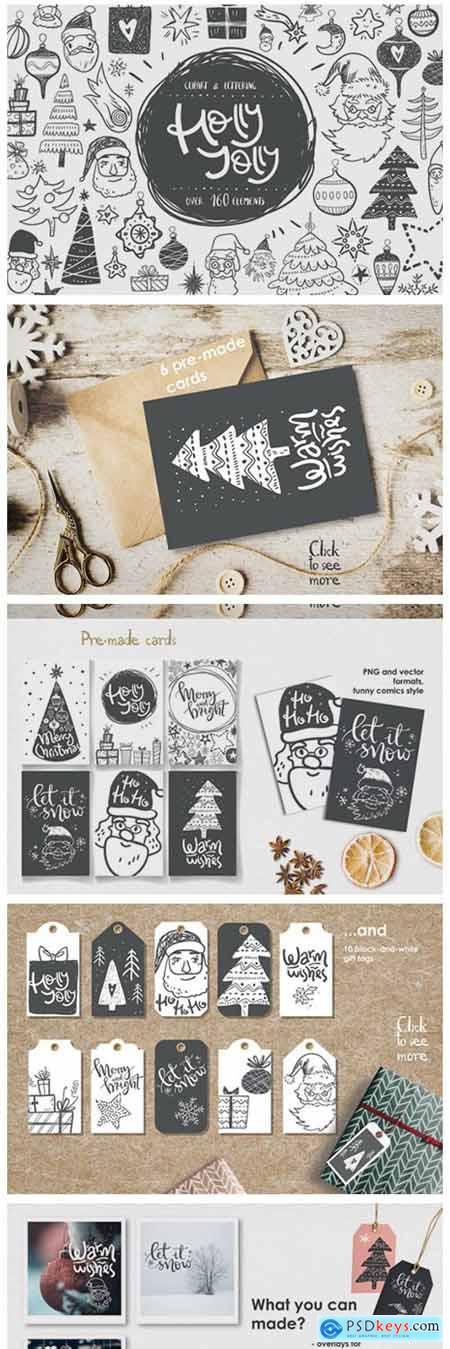 Holly Jolly Winter Doodles 6339624