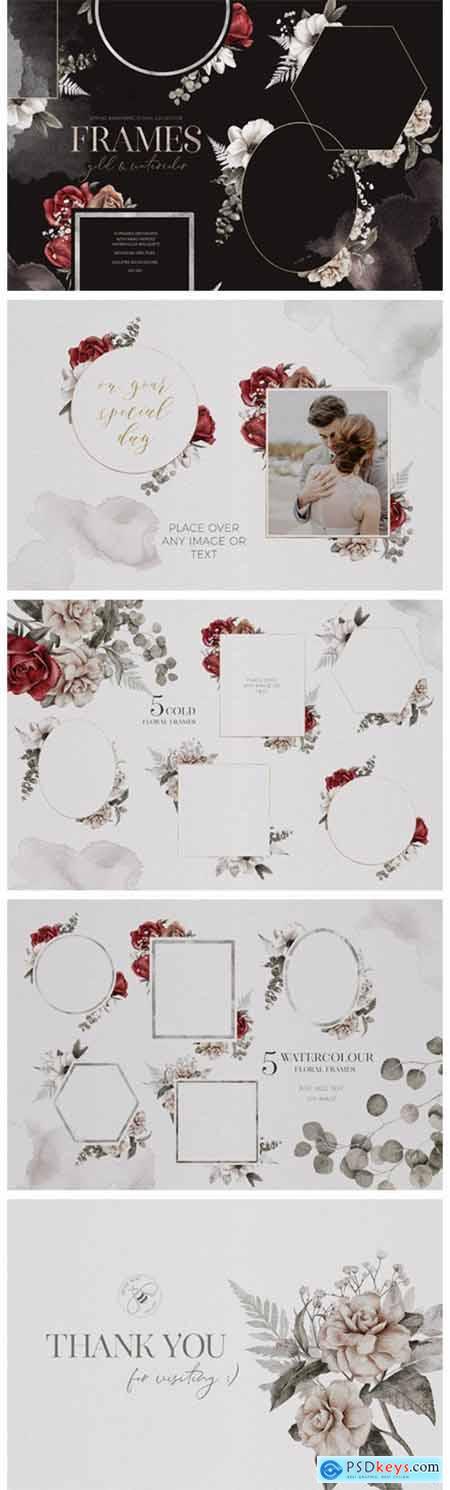 Spring Awaikening- Floral Frames PNG 7088120