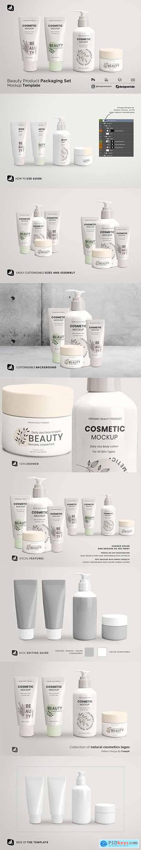 Beauty Product Packaging Set Mockup 5251048