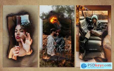 Burnt Paper Instagram Stories
