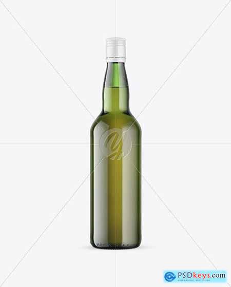 Green Glass Whiskey Bottle Mockup 72827