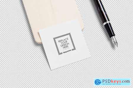 Square Business Card Mockups