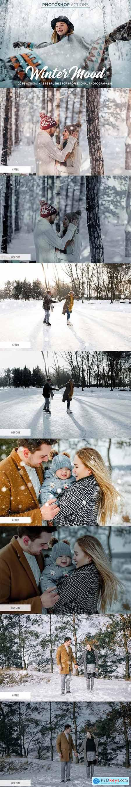 Creativemarket Winter Mood Actions for Photoshop