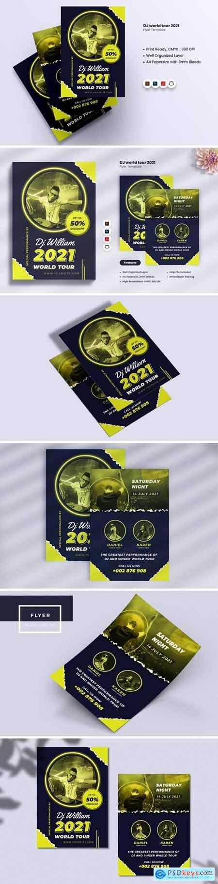 DJ World Tour Party 2021 Flyer