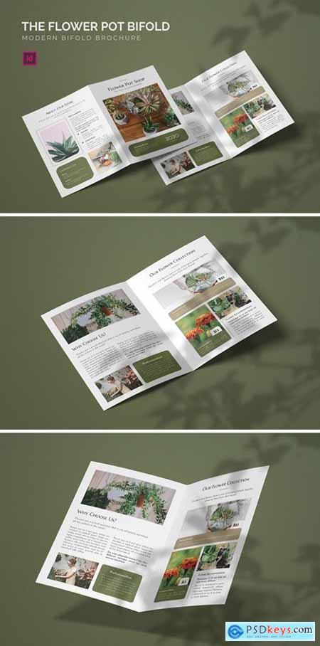 Flower Pot - Bifold Brochure