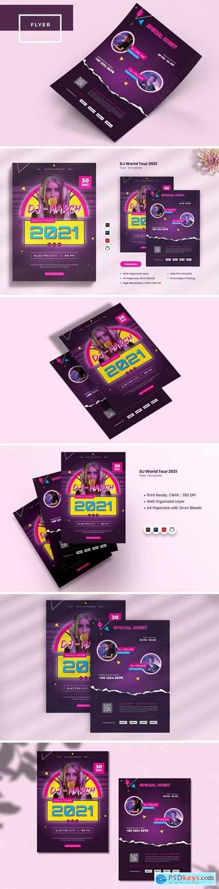DJ World Tour 2021 Flyer
