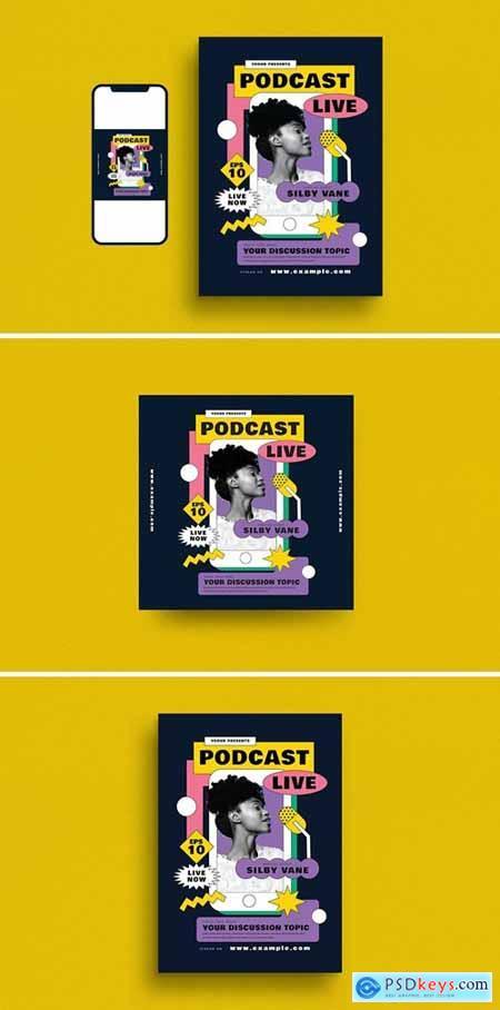 Podcast Live Event Flyer Set