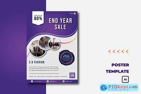 Purple End Year Sale - Flyer