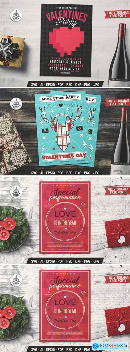 Valentines Day Card Performance Flyer Brochure