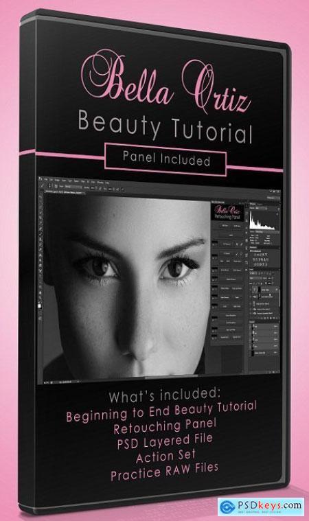 Bella Ortiz - Beauty Retouching Tutorial + Panel & Actions Free Download Source