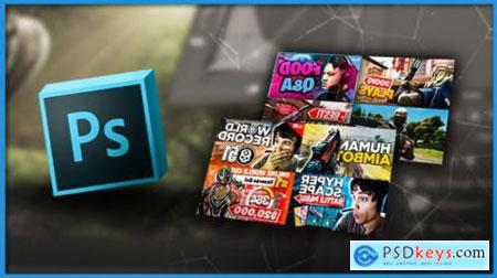 Design Gaming Thumbnails In Photoshop Free Download Source
