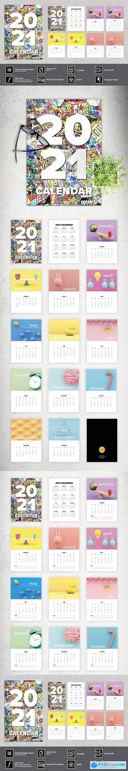 2021 Wall Calendar A3 5220252