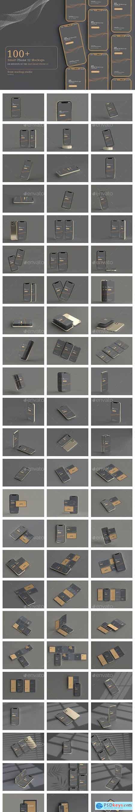 100 Smart Phone 12 Mockup Bundle 29183061