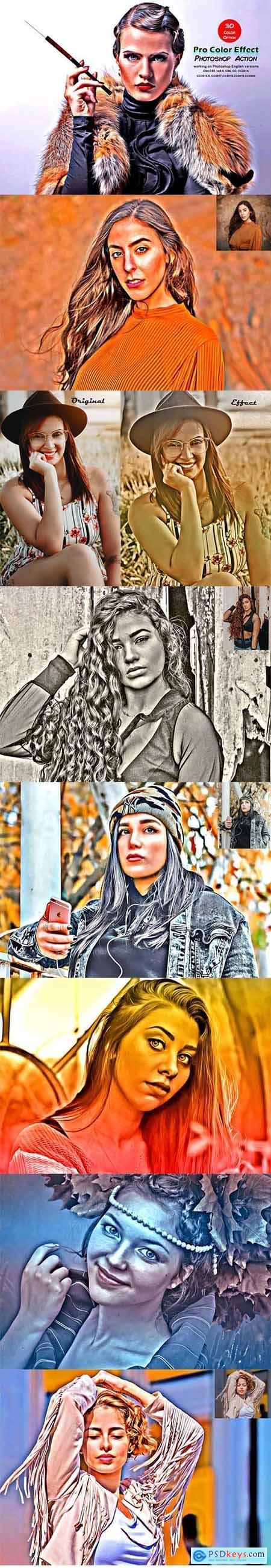 Pro Color Effect Photoshop Action 5521924