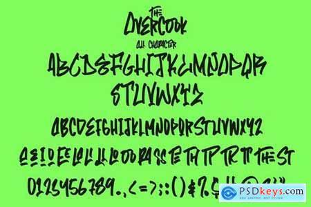 The Overcook Graffiti Font 5651403