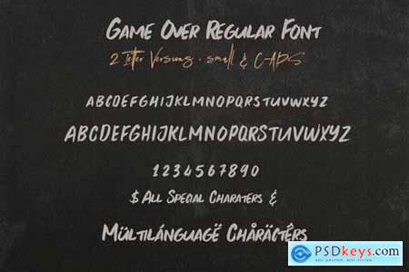 Game Over Brush & SVG Font