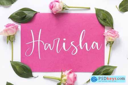 Harisha Modern Script Font