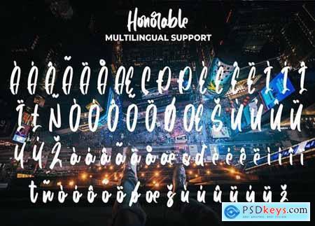 Honorable - Handwritten Brush Font